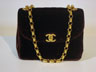 Sac en velours Chanel   A93801