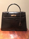 Kelly 32 cm crocodile Hermes