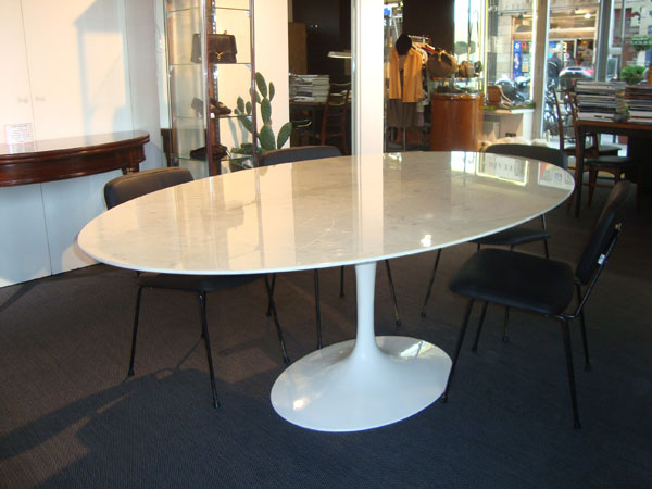 Table Eero Saarinen Knoll Occasion Table Ovale 198x122 Plateau