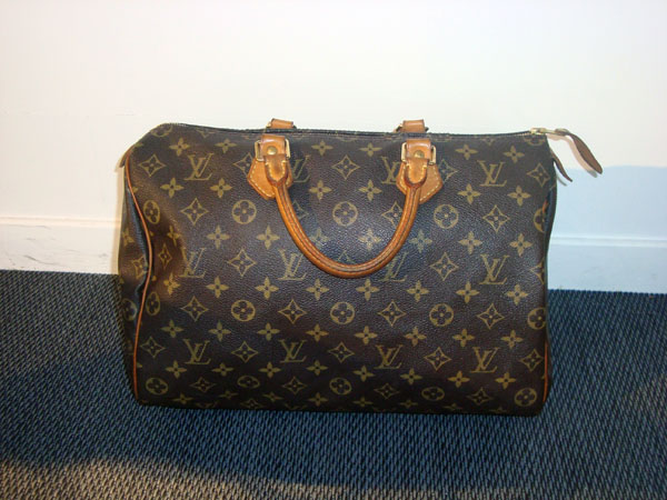 Speedy 35 Louis Vuitton occasion Toile monogram, 35 x 23 x 18 cm ... 43117766ba5