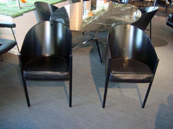 6 fauteuils costes philippe starck occasion 6 fauteuils costes coques en en bois noir 3 pieds. Black Bedroom Furniture Sets. Home Design Ideas