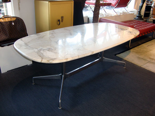 Table aluminium group charles eames occasion table for Table en marbre occasion