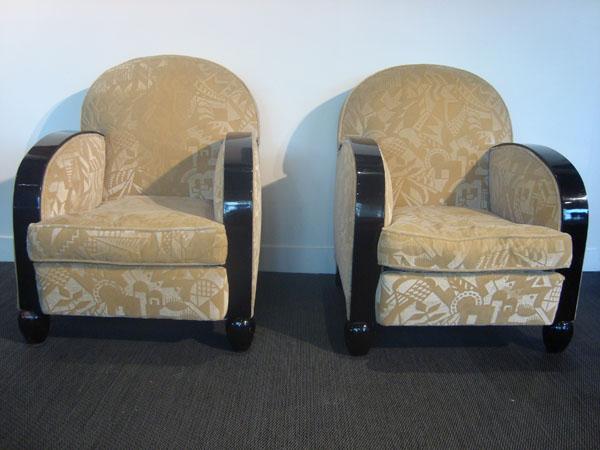fauteuils art deco occasion deux fauteuils art deco recouverts de velours beige d cors de. Black Bedroom Furniture Sets. Home Design Ideas