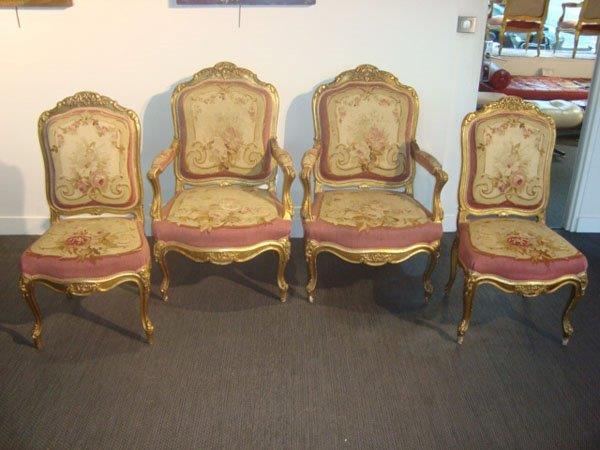 4 fauteuils et 2 chaises napoleon iii occasion 4 fauteuils et 2 chaises en bois dor recouverts. Black Bedroom Furniture Sets. Home Design Ideas
