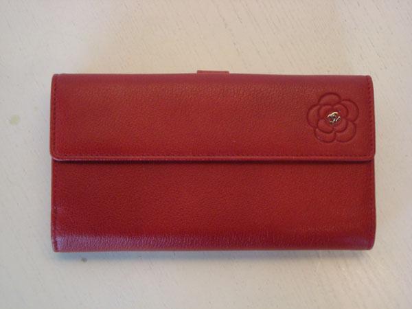 Portefeuille Chanel occasion Portefeuille Chanel en cuir rouge ... ac4c1fb5ede