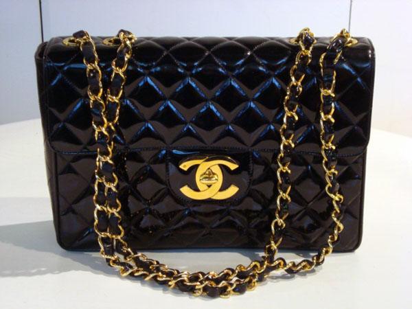 c73e406e3cb Sac matelassé Chanel occasion Sac Chanel matelassé en cuir vernis ...