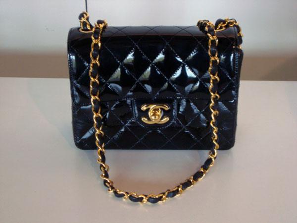Sac Matelasse Chanel Occasion Sac Chanel En Cuir Vernis Noir