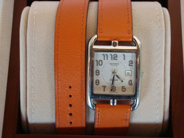 4c5b3f3f2c0 montre hermes bracelet double tour femme