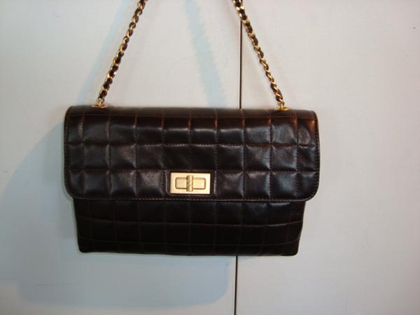 Sac Chanel chocolat Chanel occasion Sac Chanel marron chocolat cuir ... cc21e31dadc8
