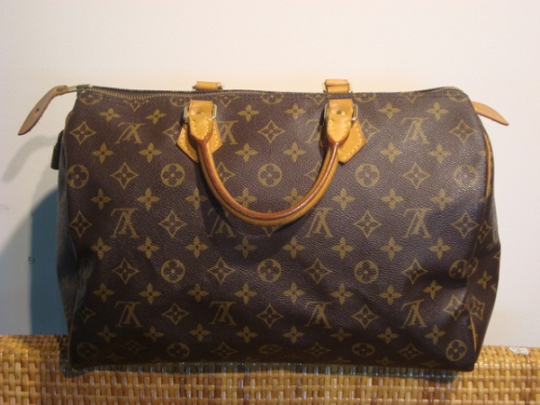 Speedy 35 Louis Vuitton occasion Sac Speedy Louis Vuitton en toile ... 81dff6ab05f