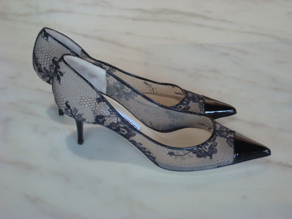 Jimmy Choo Escarpins dentelle neufs occasion, en vente Ile Saint Louis - Paris