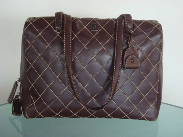 Chanel Sac cuir marron occasion, en vente Ile Saint Louis - Paris