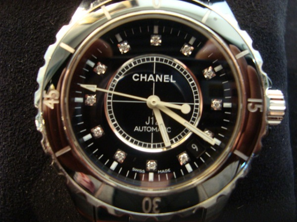 Chanel Montre Chanel J12 medium automatique index diamants occasion, en vente Ile Saint Louis - Paris