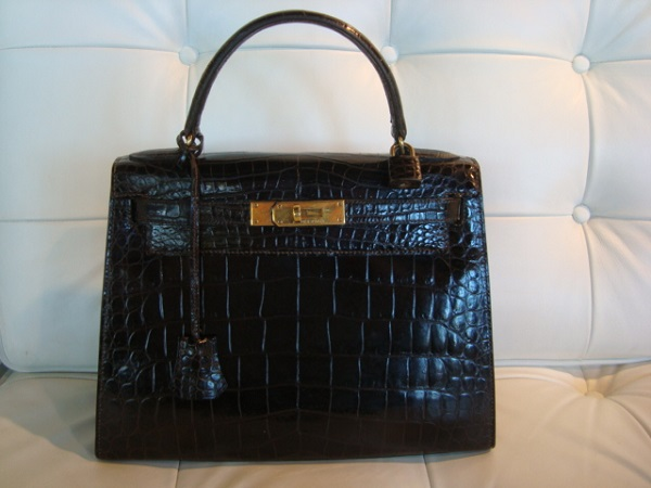 Hermes Kelly Crocodile  28 cm occasion, en vente Ile Saint Louis - Paris