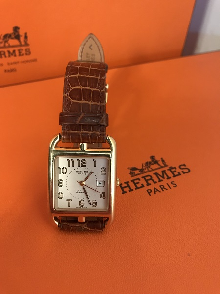 Hermes Montre Cape Cod or occasion, en vente Ile Saint Louis - Paris
