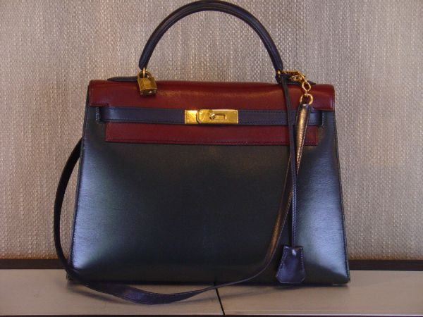 Hermes Kelly tricolore occasion, en vente Ile Saint Louis - Paris